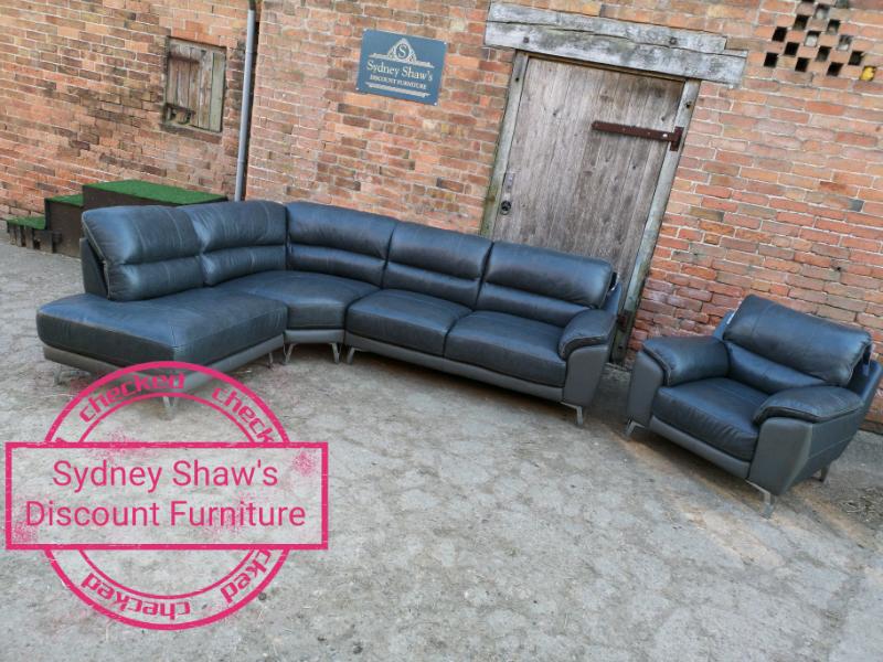 half off f57f5 ca883 Grey leather Corner sofa and armchair | in Nottingham, Nottinghamshire |  Gumtree