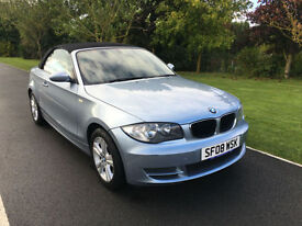 2008 08 BMW 1 SERIES 118i SE CONVERTIBLE 65000 MILES FULL SERVICE HISTORY