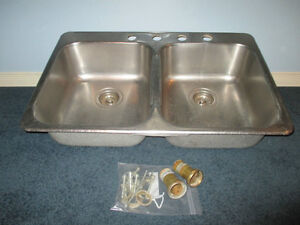 Double Stainless Steel Sink Kitchener / Waterloo Kitchener Area image 2