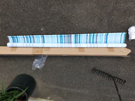 NEXT TEAL GREEN GREY DUCK EGG BLUE STRIPED ROLLER BLIND 120CM X 120CM