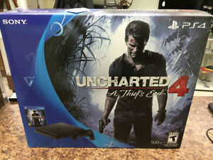 NEW  SLIM PS4 , Brand new in the box , Uncharted 4 + COD