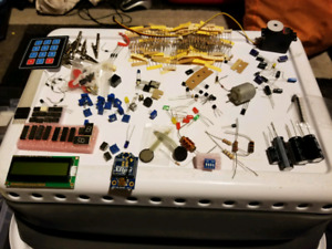 Assorted electronic parts