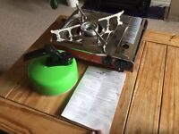 Portable Camping Gas Stove Cooker with Gas and Kettle