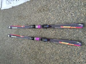 Salomon EXP 8000 Skis with 957 Bindings with Poles