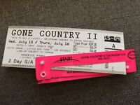 2 GA Rock the Park - Gone Country Tickets for Thursday Jul 16
