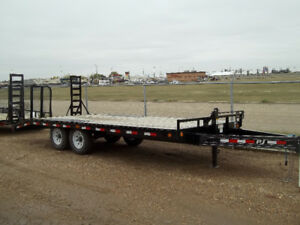 "20' X 8"" I BEAM DECKOVER - RAMPS 2/7000LB AXLES"