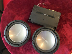 Car audio-12IN 1000W Kenwood subwoofer/Qty -2 with Power Amplifi