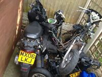Moped job lot nrg aerox forks frames wheels engines exhausts looms panels seats gy6 50cc 125cc