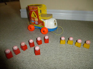 Vintage Fisher Price Little People Lacing Shoe with Play Family