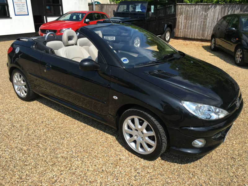 peugeot 206 cc 1 6 16v automatic tiptronic 2005my coupe cabriolet allure black in woodbridge. Black Bedroom Furniture Sets. Home Design Ideas