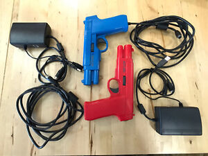 2 x Arcade light guns by Act Labs with TV-out USB VGA box SVideo