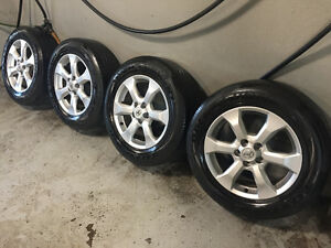 4 Factory OEM Toyota Alloy Rims on Toyo Tires - 225/65R17
