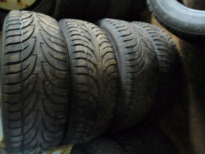 set 235 70 16 winters tires with rims 5x114.3 off santa fe