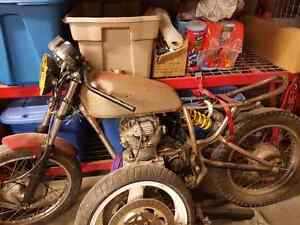 1976 honda scrambler cafe racer project.