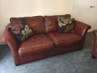 DFS Leather 3 Seater Sofa And Leather 2 Seater Sofa Bed Matching Set
