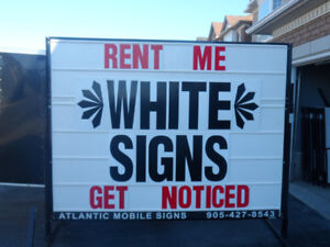 White Mobile Signs For Sale!  The BEST Deal Out There!