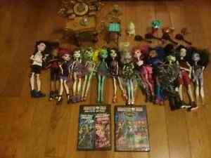 Monster High Dolls, DVDs  and House