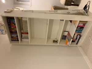 WHITE BOOKCASE - adjustable shelves (pegs included)