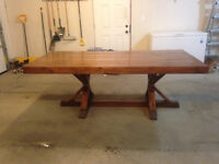 NEW Hand made dinning room table