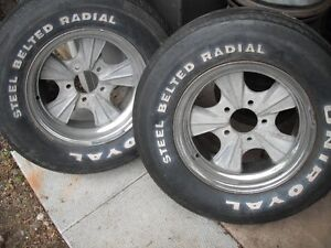Vintage Mickey Thompson Rader wheels ,  Gasser, Custom, Rat