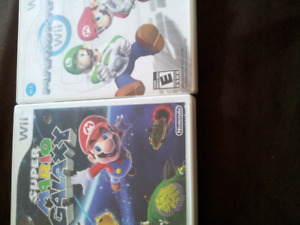 Super Mario galaxy and Mario part just cases w booklet 5 each