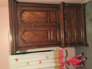 Armoire / wardrobe Antique Solid Wood