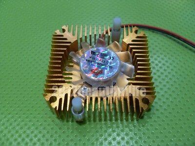 5pcslot Dc12v Aluminum Heatsink With Fan For 3w 5w 10w High Power Led
