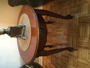 Solid wood vintage Victorian style side table