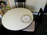 Circle Dining Table + 2 Chairs