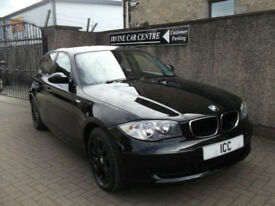 07 07 BMW 116i SPORT ES 5DR BLACK WITH BLACK ALLOYS 2 OWNERS LOW MILEAGE