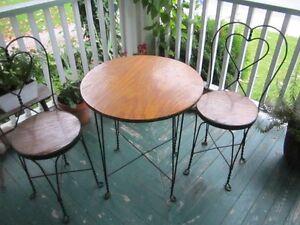 Antique Ice Cream Parlour set