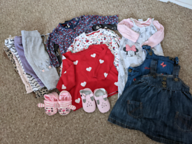 Bundle of girls clothing age 6-9 months