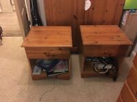 2x solid pine Bedside tables