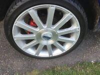 """Fiesta ST 17"""" alloys & tyres"""