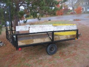 INSPECTED, PERFECT SIZE LITTLE TRAILER 8.5L X 6 WIDE. [FIRM]