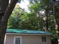 Free estimates, steel & shingled roofs