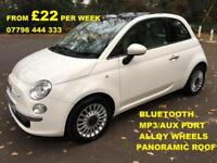 £91.66 PER MONTH 2011 FIAT 500 1.2 LOUNGE - PETROL MANUAL NO DEPOSIT REQUIRED