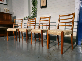 Mid_century Scandinavian Farmhouse Teak Rope Chairs_Free delivery