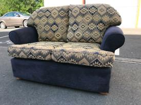 Blue Fabric 2 Seater Sofa