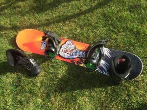 Planche à neige - kit bottes et planche - Garçon et Fille