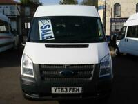 FORD TRANSIT 14 SEAT MINIBUS 6 SPEED 135PS EU COC COIF DIGITAL TACHOGRAPH PSV