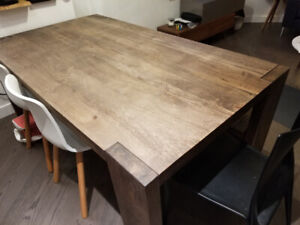 CB2 Solid Wood dining table