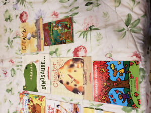 French Books (Large Selection) and some Disney Stories with CDs