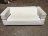 IKEA cream sofa 177cm used condition. Can deliver.