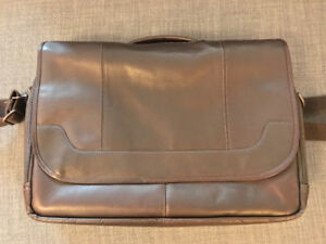 Pelle Leather Briefcase, Brown