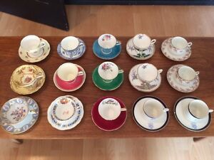 Assorted Antique Tea Cups w/matching saucers