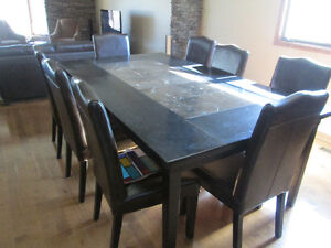 EXTRA LARGE CUSTOM MADE MAPLE Table and 8 CHAIRS