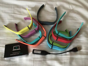 Fitbit Flex with 8 additional straps