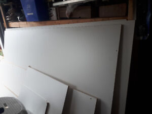 FREE 2 full 4' by 8' Particle Boards white