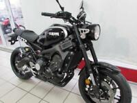 YAMAHA XSR900 ABS IN MIDNIGHT BLACK. 2018 68 REG, 0 MILES. NAKED RETRO BIKE...